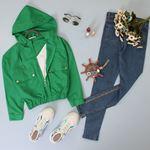 Yeşil Crop Ceket CKT029