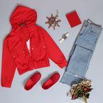 Kırmızı Crop Ceket CKT033