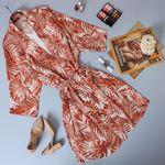 Kiremit Desenli Kimono Ceket CKT034