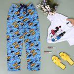 Baskılı Mavi Polar Pijama Altı PJM147
