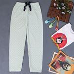 Baskılı Mint Polar Pijama Altı PJM150