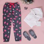 Baskılı Füme Polar Pijama Altı PJM221