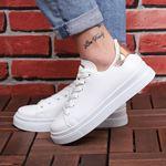 Beyaz Arkası Bronze Spor Ayakkabı AYK018