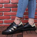 Siyah Simli Şeritli Spor Ayakkabı AYK172