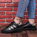 Siyah Gold Şeritli Spor Ayakkabı AYK174