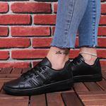 Siyah Simli Şeritli Spor Ayakkabı AYK176