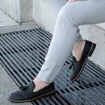 Corcik Siyah Deri Günlük Ayakkabı AYK194