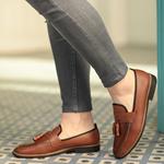 Corcik Kahverengi Deri Günlük Ayakkabı AYK196