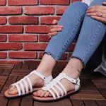 Beyaz Ahtapot Sandalet SND060