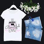 Beyaz Baskılı T-shirt TSH151