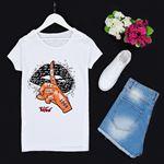 Beyaz Baskılı T-shirt TSH156