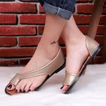 Gold Parmak Arası Sandalet SND169