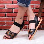 Siyah Düğmeli Sandalet SND172