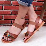 Taba Düğmeli Sandalet SND174