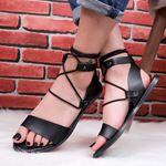 Bilekten Bağlamalı Siyah Sandalet SND176