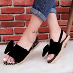 Siyah Fiyonklu Sandalet SND182