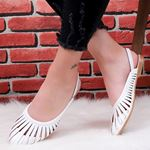 Beyaz Kafes Sandalet SND164