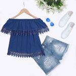 Mavi Madonna Yaka Bluz BLZ032