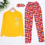 Cat Sarı Pijama Takımı PJM905