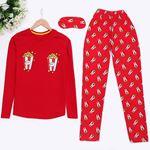 Popcorn Kırmızı Pijama Takımı  PJM909
