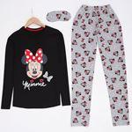 Minnie Siyah Pijama Takımı PJM924