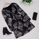 Siyah Şifon Elbise ELB379
