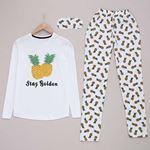 Pineapple Beyaz Pijama Takımı PJM926