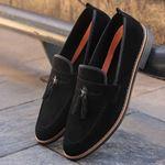 Corcik Siyah Süet Günlük Ayakkabı AYK193