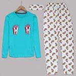 Popcorn Turkuaz Pijama Takımı PJM991