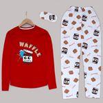 Kırmızı Nutella Pijama Takımı PJM995