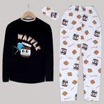Siyah Nutella Pijama Takımı PJM996