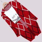 Kırmızı Desenli Hırka HRK292