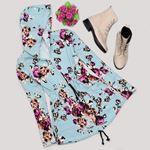 Mint Çiçek Desenli Ceket CKT183