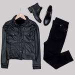 Siyah Deri Ceket CKT188