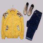 Sarı Payetli Ceket CKT197
