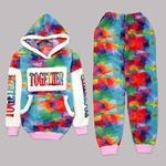 Renkli Peluş Pijama Takımı PJM1072