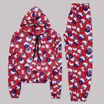 Kırmızı Polar Pijama Takımı PJM1087