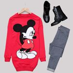 Kırmızı Mickey Sweat Tunik SWT437