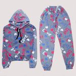 Gri Polar Pijama Takımı PJM1109