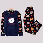 Lacivert Cat Pijama Takımı PJM1111