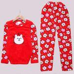 Kırmızı Bear Pijama Takımı PJM1116