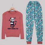 Panda Baskılı Pijama Takımı PJM1122