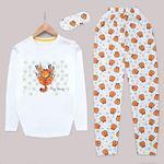 Beyaz Garfield Pijama Takımı PJM1132