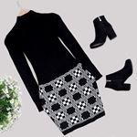 Siyah Triko Elbise ELB417
