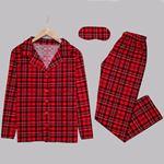 Kırmızı Ekoseli Pijama Takımı PJM1149