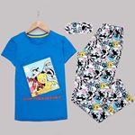 Mavi Disney Uyku Bantlı Pijama Takımı PJM1165