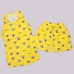 Sarı Baskılı Pijama Takımı PJM1282