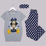 Gri Mickey Baskılı Pijama Takımı PJM1286