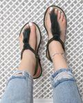 Haki Tüylü Halat Sandalet SND035