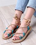Mavi Halat Sandalet SND022